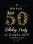 Biglietti Inviti Compleanno 50Anni 40PZ