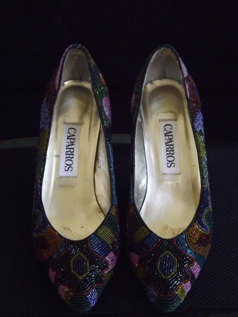 MIB Caparros Starlight Starlight Starlight Sequin Beaded Multi Brite Schuhes Heels Pumps 7.5B EXC 8aca9c