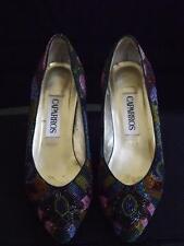 MIB Caparros Starlight Sequin Beaded Multi Brite Shoes Heels Pumps 7.5B EXC