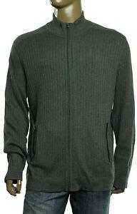 Alfani Mens 1//4 Zip Rib Mock Knit Sweater