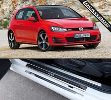 VW Golf Mk7 GTi (released approx 2013) 2 Door Sill Protectors / Kick plates