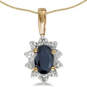 10k-Yellow-Gold-Oval-Sapphire-and-Diamond-Pendant-no-chain-CM-P5055-09