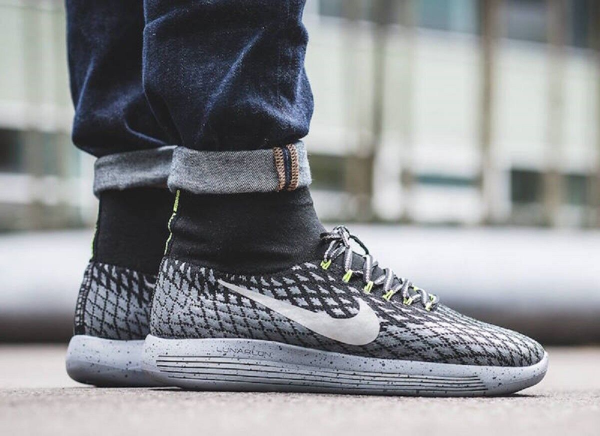 NIKE LUNAREPIC FLYKNIT SHIELD Running Trainers Casual Water Repel  Various Sizes