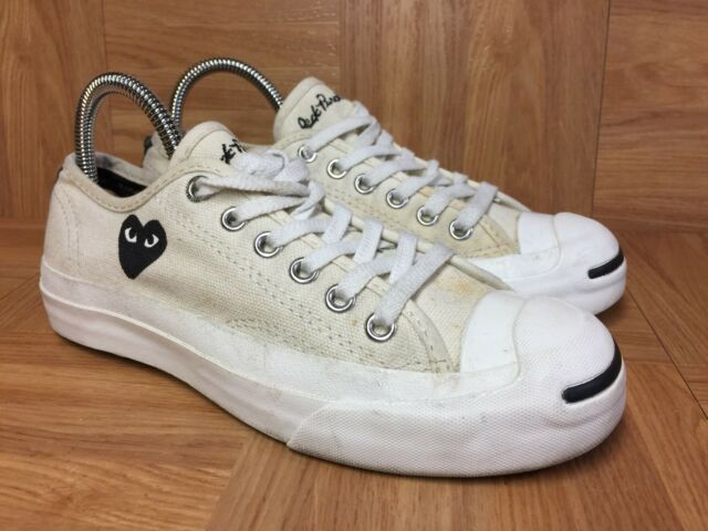 04c4f8bab759 RARE🔥 Jack Purcell X Converse Comme Des Garcons PLAY Cream Black Heart 4.5