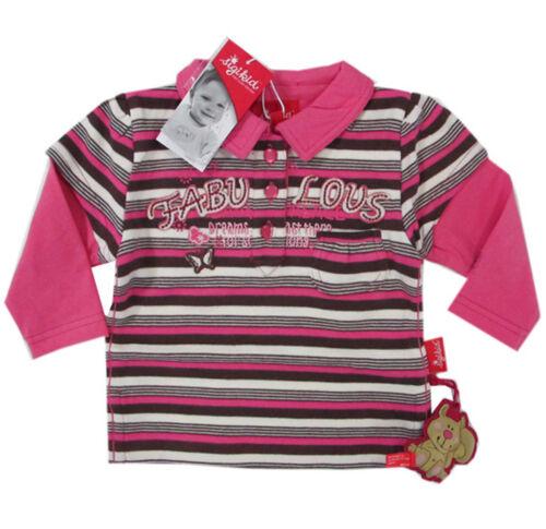 Sigikid T-Shirt langarm Langarmshirt Mädchen Polo-Kragen Baby Kinder Gr 80