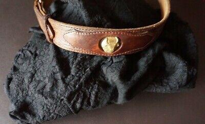2019 Nuovo Stile Passeggino Originale Cintura Vintage In Pelle Fantastico Con Kuhköpfen In Ottone-mostra Il Titolo Originale