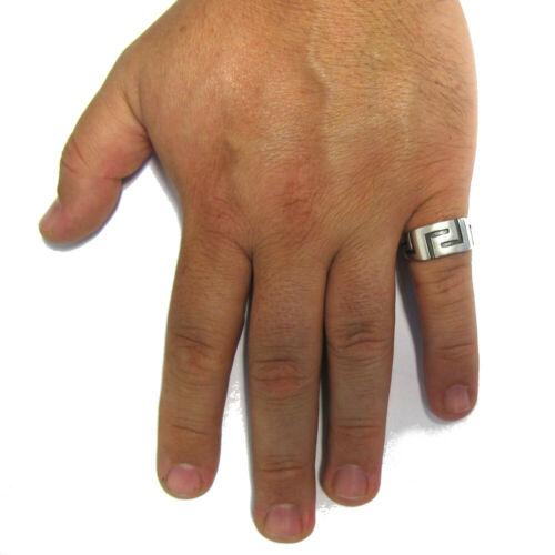 STERLING SILVER MEN RING SOLID 925 MEANDER R001580 EMPRESS