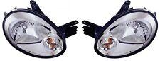 2003 2004 2005 DODGE NEON HEAD LAMP LIGHT W/CHROME BEZEL SET RIGHT & LEFT PAIR