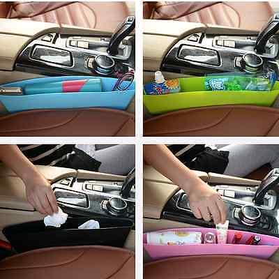 Plastic Catch Catcher Box Caddy Auto Car Seat Gap Slit Pocket Storage Organizer