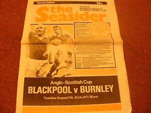 1979 Blackpool v Burnley Anglo Scottish Cup - Lancaster, United Kingdom - 1979 Blackpool v Burnley Anglo Scottish Cup - Lancaster, United Kingdom