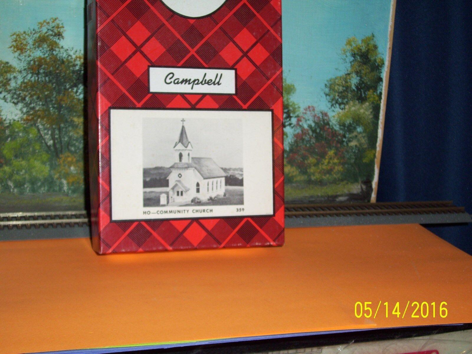 Campbell Scale Models Ho Iglesia de la comunidad.