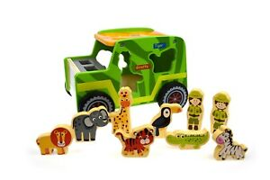 Tooky-Toy-Wooden-Safari-Jeep-Set-Toddler-Educational-Development-Puzzle-toy