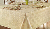 Waterford Tablecloth Christina Gold Silver Holiday 70 X 104 -