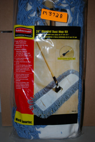 """RUBBERMAID Commercial Products 24/"""" Blended DUST MOP KIT #M3728 NEW"""