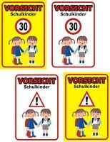 Schild Achtung Spielende Kinder Schulkinder Straße 30x20 Bis 60x40cm Wetterfest