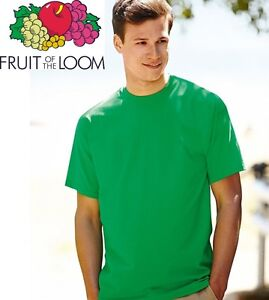 T-SHIRT FRUIT OF THE LOOM VALUEWEIGHT TAGLIE FORTI CALIBRATE 100% COT CONFORMATE