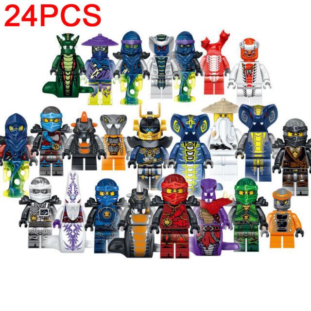 24 pcs//set Ninjago Mini Figures Kai Jay minfigures Building Blocks Toys Gift
