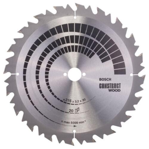 BOSCH Ø 315 x30 x3,2 mm Kreissägeblatt Construct Wood 20Zähne