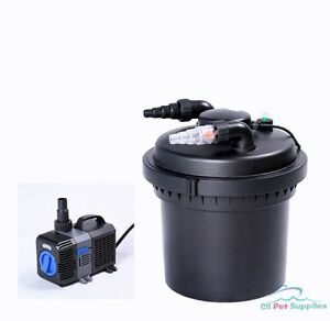 2100 gal pressure pond filter w 13w uv sterilizer koi fish for Koi fish pond water pump