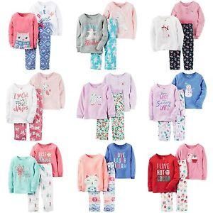 5527c11b251b Carters NWT Size 2T 3T Pajama Set 3 Piece Toddler Girls Warm Winter ...