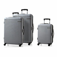 3 Pieces Luggage Set 4 Spinner Wheels Suitcase Hard-shell Light Weight Carry On