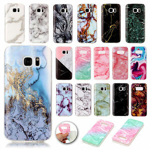 Slim-Marble-Grain-Pattern-Soft-TPU-Back-Case-Cover-Skin-For-Samsung-Galaxy-Phone