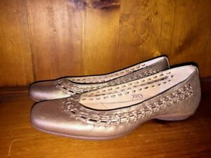 12fcef095447 SOFFT Soft Ballet Flats Loafers Braid Gold Bronze LEATHER Shoes ...