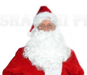 18764f5bd3a20 FATHER CHRISTMAS SANTA CLAUS NICHOLAS BEARD AND WIG Dress Up Costume ...