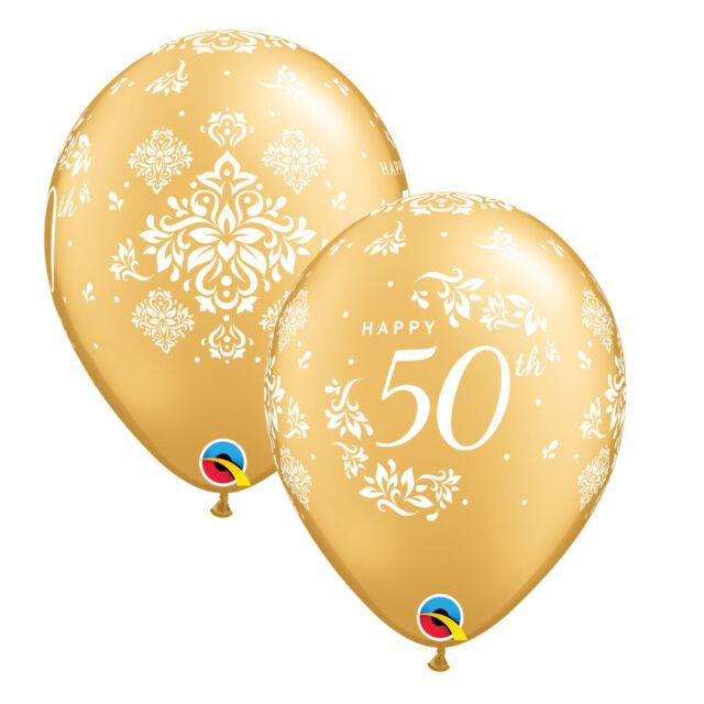 "10 x argent 25th anniversaire damassé 11/"" qualatex latex ballons"