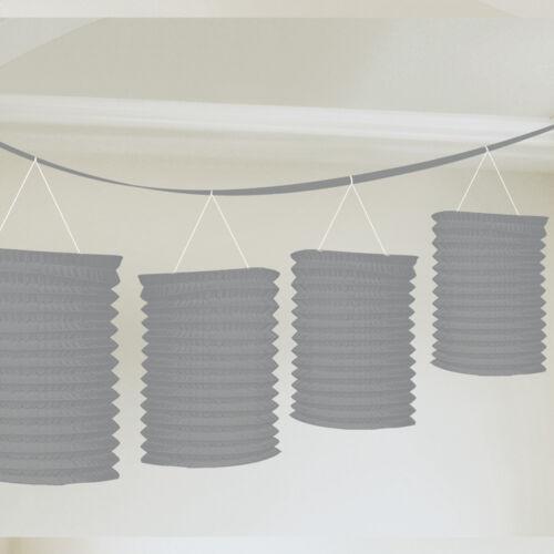 Laternen Girlande 3,6 m 8 Laternen silber silberne Hochzeit Raum Deko Dekoration
