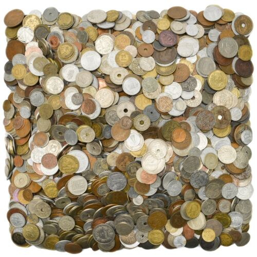 LOT OF 100 OLD EUROPE COINS UNTIL 1950 COLLECTIBLE CURRENCY FROM 19-20 CENTURY