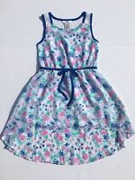 Guess Girls Size 7 Chiffon Easter Dress Floral Lace Sleeveless Summer Spring