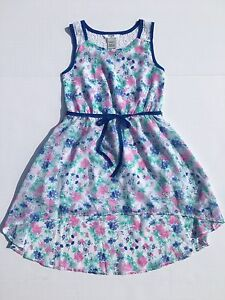 Details about NEW Guess Girls Size 7 Chiffon Easter Dress Floral Spring  Sleeveless Summer Cute ed09a2929