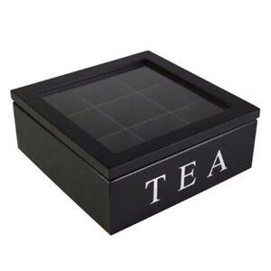 Wooden-9-Grids-Tea-Box-Tea-Bags-Container-Storage-Box-Square-Gift-Box-Case-TE9D8