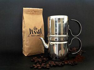CAFFETTIERA NAPOLETANA 9 tazze ACCIAIO INOX 18/10 FUSARI + 250 g CAFFE' FUSARI