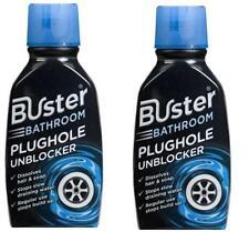 2 x Buster Bathroom Drain Clear Bathroom & Shower Plughole Unblocker 300ml