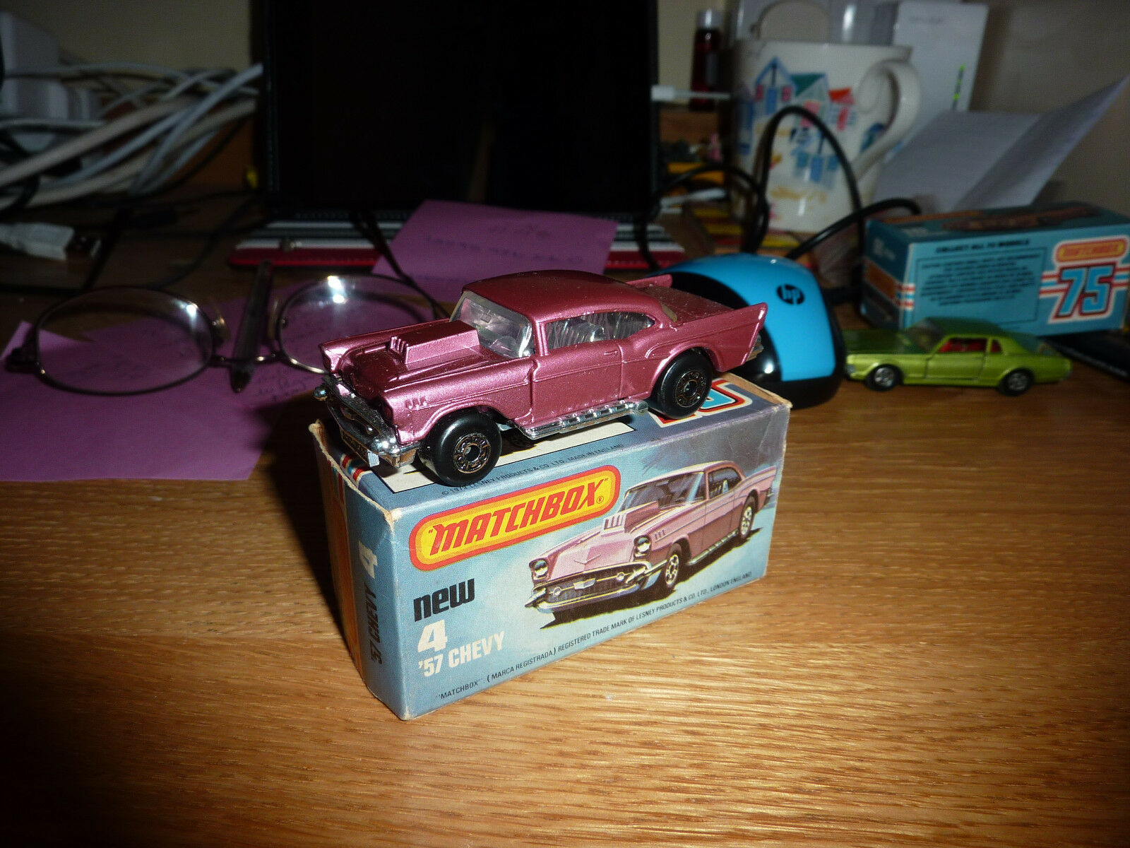 Lesney Matchbox Series - No 4 - '57 Chevy - - - Boxed c1927a