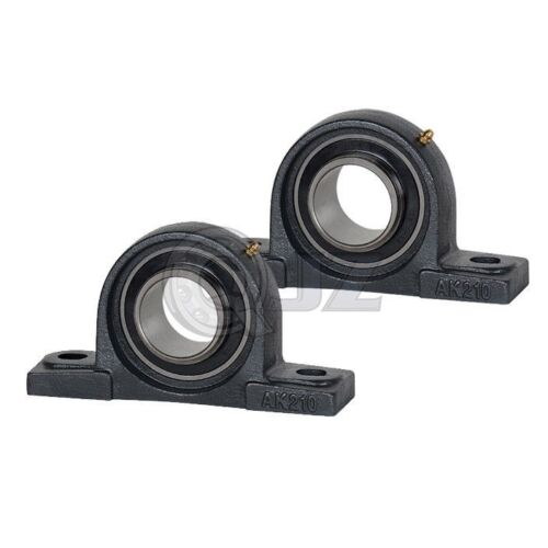 2x 1 3//16 in Pillow Block Cast Iron HCAK206-19 Mounted Bearing HC206-19+AK206