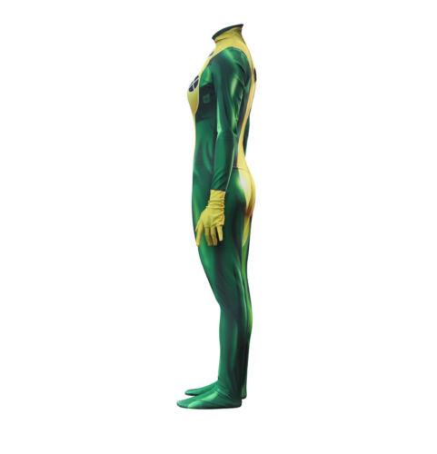 X-MEN Rogue Anna Marie Hero Halloween Cosplay Costume Zentai Jumpsuit Bodysuit