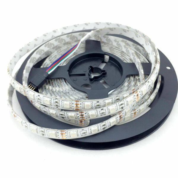 1m 20m rgb led strip streifen lichtband lichtstreifen 60leds m smd 5050 netzteil ebay. Black Bedroom Furniture Sets. Home Design Ideas
