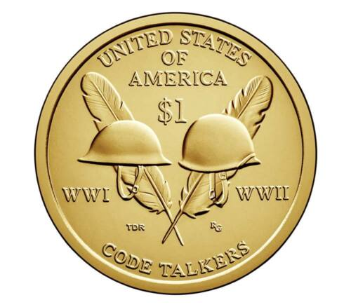 2016 P/&D Native American Dollar Sacagawea UNC Code Talkers WWI WWII 2 Coins