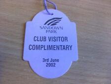 03/06/2002 Sandown Park Races - Horse Racing Badge (good condition with no appar