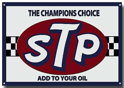 STP THE CHAMPIONS CHOICE METAL SIGN GARAGE SIGN,MOTOR RACING SIGN,