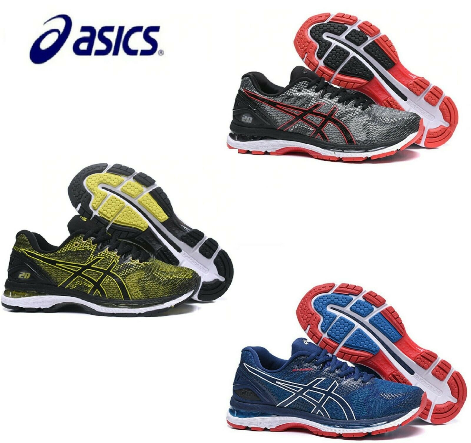 ASICS Gel Nimbus 20 Hombre Para Correr Zapatos Tenis Deportivos Transpirables Deportes Gym