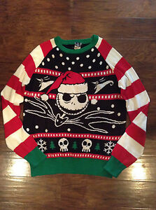 Disney Nightmare Before Christmas Sweater Ugly Sweater Skellington