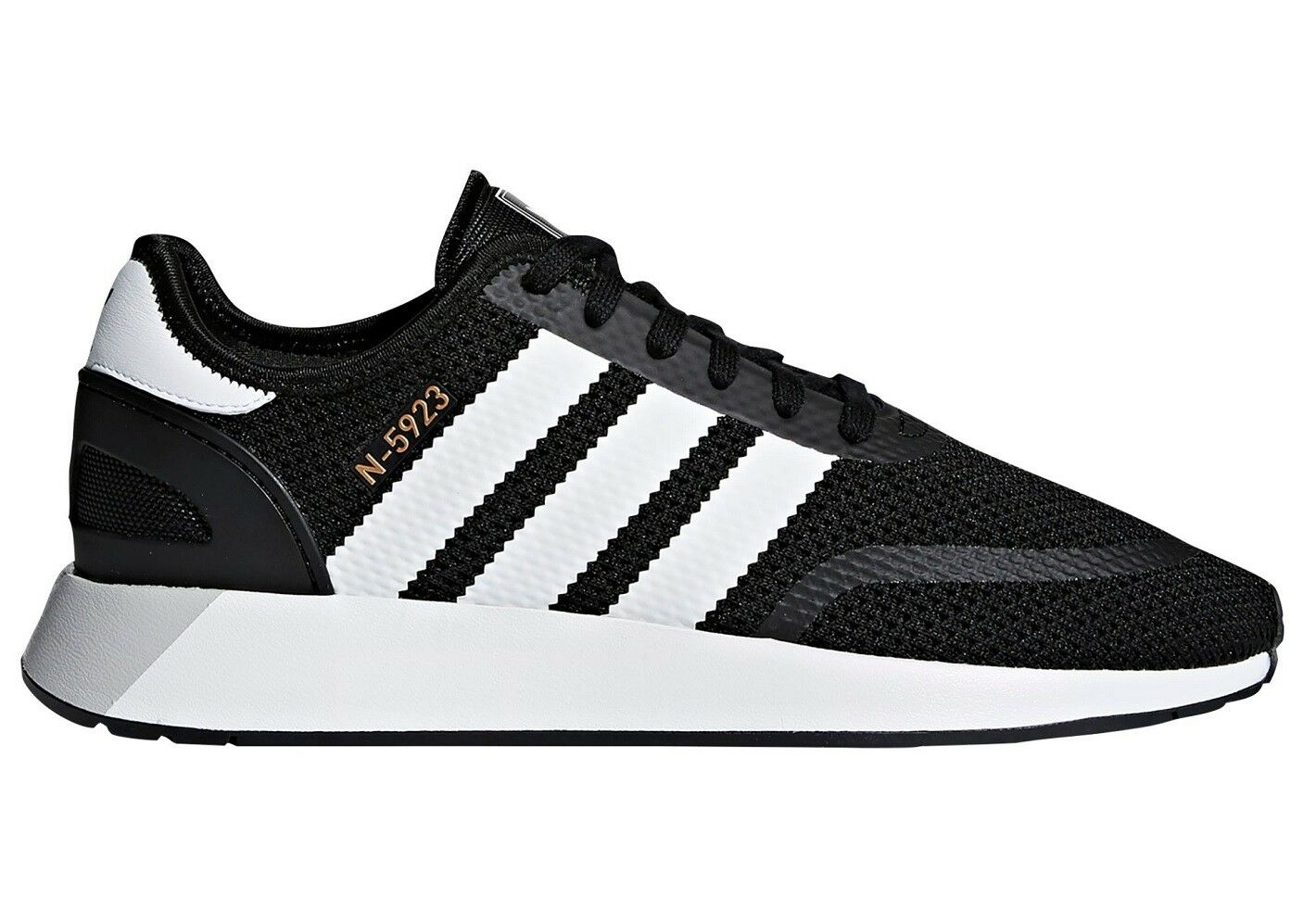 Adidas N-5923 Mens CQ2337 Black White Grey One Textile Running Shoes Size 5.5