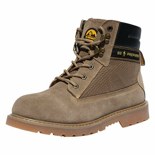 NEW Boy Scouts of America Men's Size 7.5 Tan Water Resistant Suede Hiking Boots