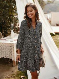 Summer-Floral-sundress-Women-beach-Long-Fashion-Maxi-Womens-women-039-s-Evening
