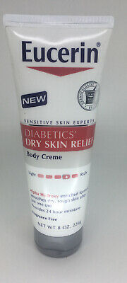 New Eucerin Diabetics Dry Skin Relief Body Cream 8 Oz Tube Ebay