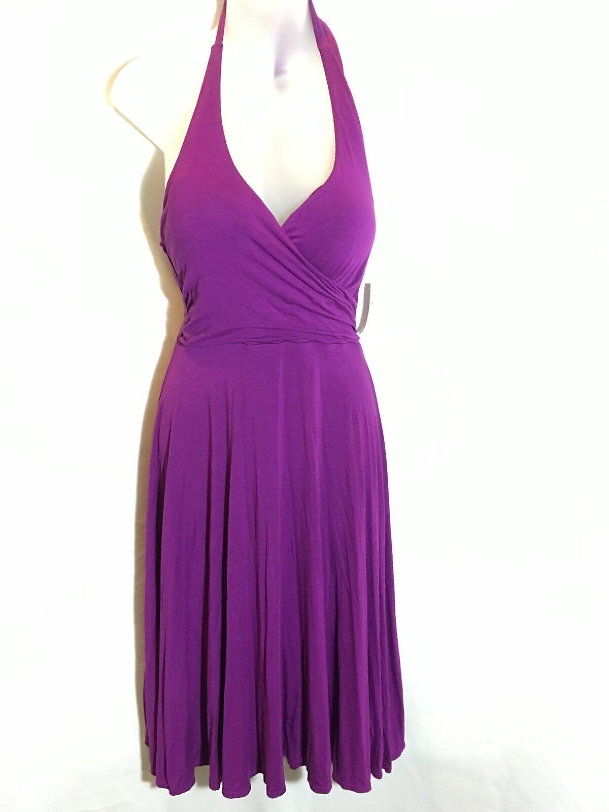 NEW Victorias Secret Moda Miraculous Push-Up Halter Bra Top Dress Purple 34A